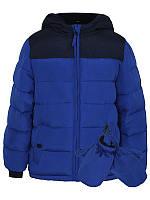 """Детская теплая куртка на 4-5 лет для мальчика  """"Исследователь""""синяя"""