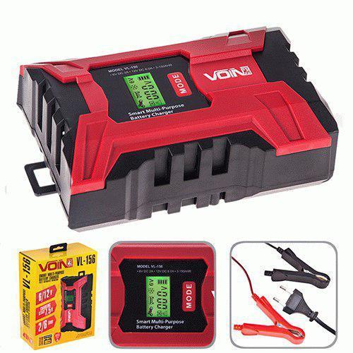 Зарядное устройство VOIN VL-156 6-12V / 2-6A / 3-150AHR / LCD / Импульсное