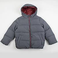 """Детская теплая куртка """"Джаспер"""" серая на рост 116, 122, 128см"""