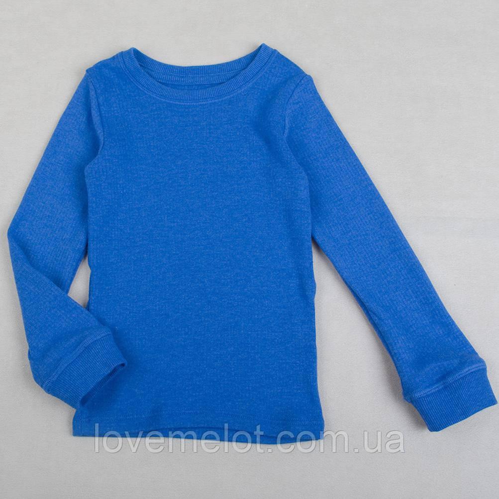 Детский термо-реглан светло-синий, реглан для мальчика M&S, рост 98см