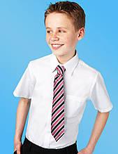 Тенниска M&S белая для мальчика, размер 134 см