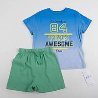 """Детский костюм M&S  для мальчика на рост 98см футболка и шорты """"Калумбус"""""""