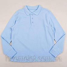 """Детский реглан голубой школьный детская Тенниска поло с длинным рукавом """"Голубое небо"""" 134 см"""