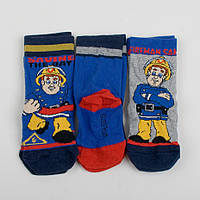 """Детские носки хлопковые для ребенка """"Пожарный Сэм"""" для мальчика 2-4 года"""