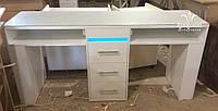 Маникюрный стол с ультрафиолетом для 2х мастеров, Модель V309 белый