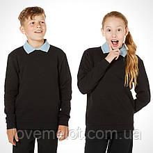 Детский Свитер черный школьный, кофта, джемпер униcекс Debenhams одежда для школы, размер 128 см