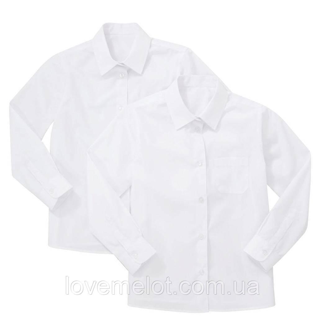 Рубашки детские для мальчика школьные F&F  белые для мальчика, набор 2 шт на рост 116см