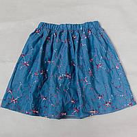 1bbd48a6de6 Юбка детская для девочки джинсовая с вышивкой