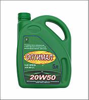 Минеральное моторное масло высокой вязкости Оптимал 20W50 API SF/СС,  5л