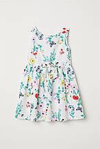 """Платье-сарафан детский H&M """"Полевые цветы"""" для девочки, рост 104 см, 116 см"""