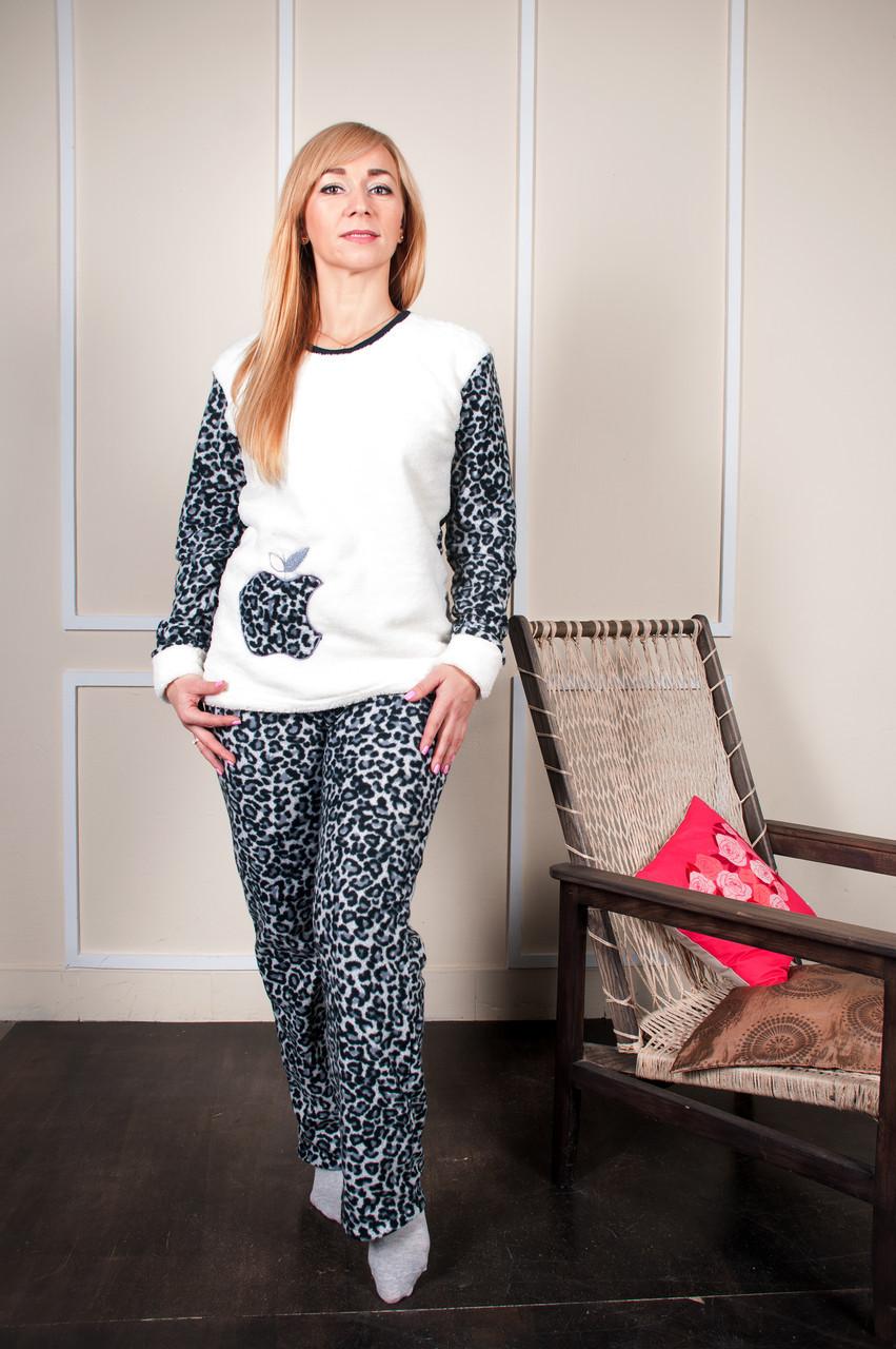 Женская пижама с длинным рукавом леопард