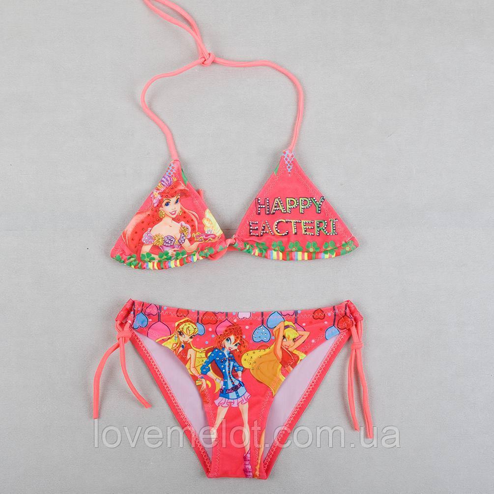 """Детский купальник розовый для девочки """"Русалочка"""", размер 2-4 года"""