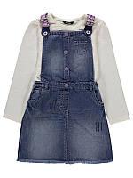 """Детский джинсовый сарафон с регланом """"Лора"""" для девочки сарафан на рост 104см"""