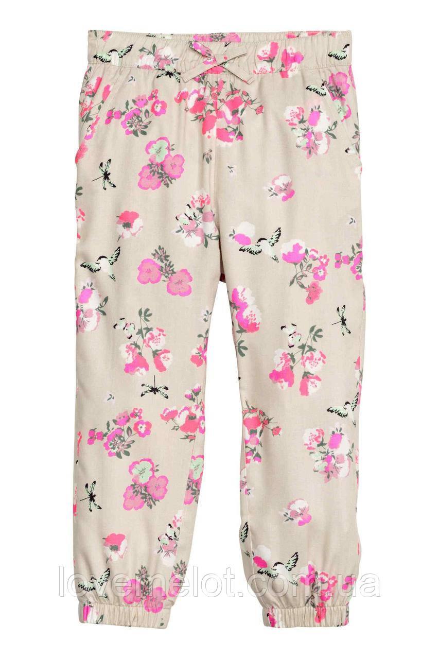 """Літні дитячі штани H&M на манжетах """"Літній ранок"""", розмір 98 см"""
