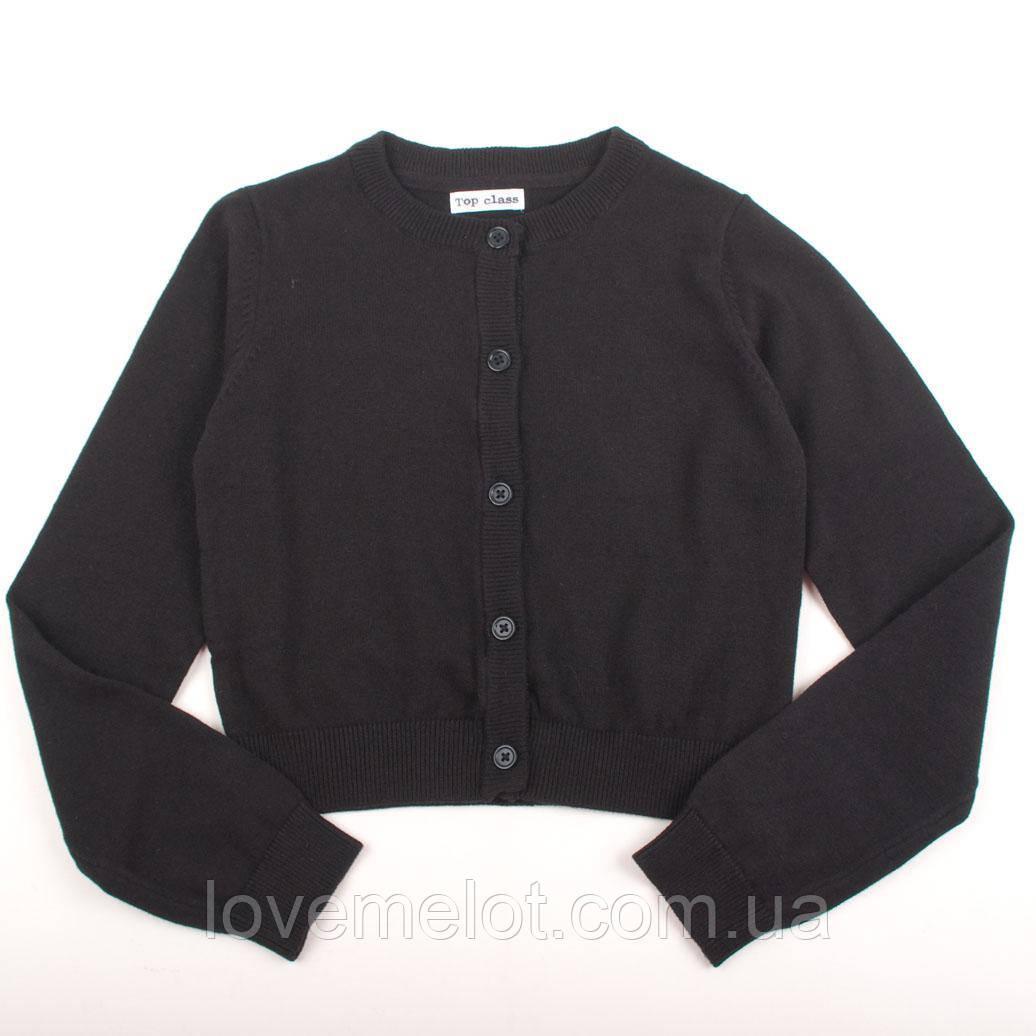 """Детская кофта на пуговицах джемпер свитер Top Class """"Надин"""" черная, размер 128 см"""