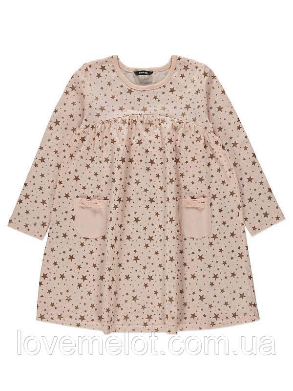 """Детское платье нарядное """"Звездный персик"""" для девочки, 2-3 года, рост 98 см"""