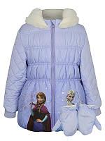 """Куртка детская теплая на флисе """"Фроузен""""  для девочки куртка Анна, Эльза на рост 104см"""