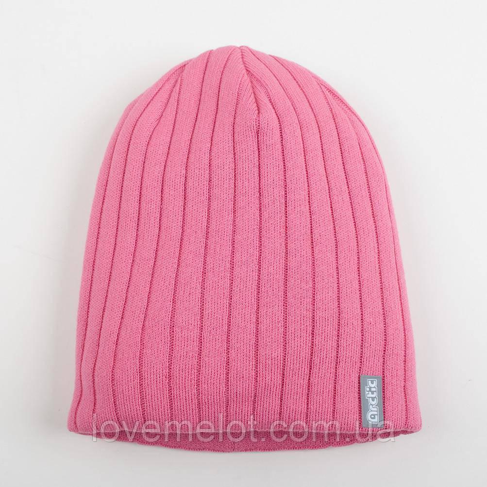 """Шапка детская для девочки демисезонная шапочка розовая для девочки 8-12 лет """"Колледж"""""""