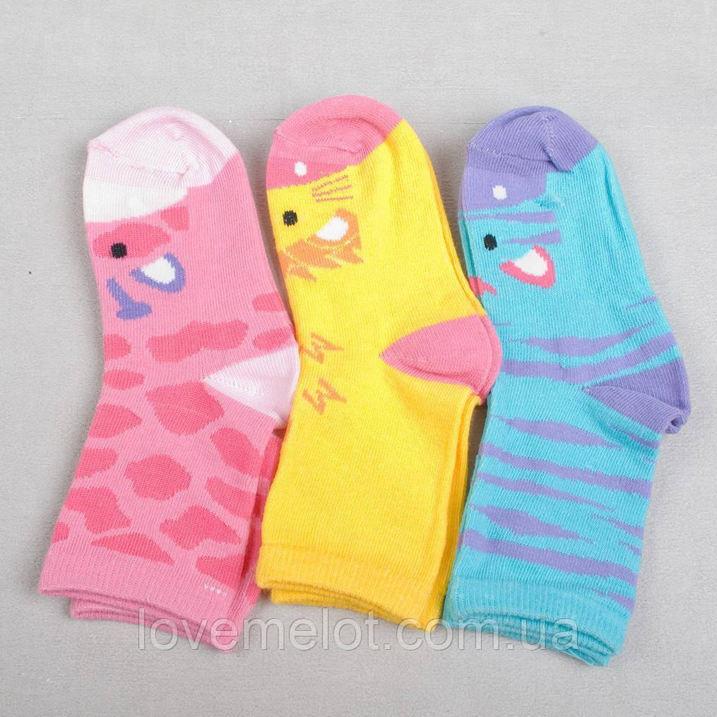 """Детские носки хлопковые носки для девочки, Детские носки """"Симпатяшки"""" для девочки размер 23-26"""