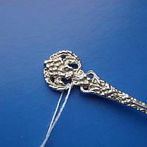 Серебряная подарочная ложка с венком, 10,2 грамма, фото 2