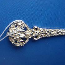 Серебряная подарочная ложка с венком, 10,2 грамма, фото 3