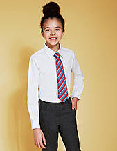 """Детская рубашка школьная для девочки """"Камилла"""" белая рубашка для девочки, рост 128 см"""