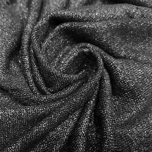 Трикотаж ангора с люрексом черная