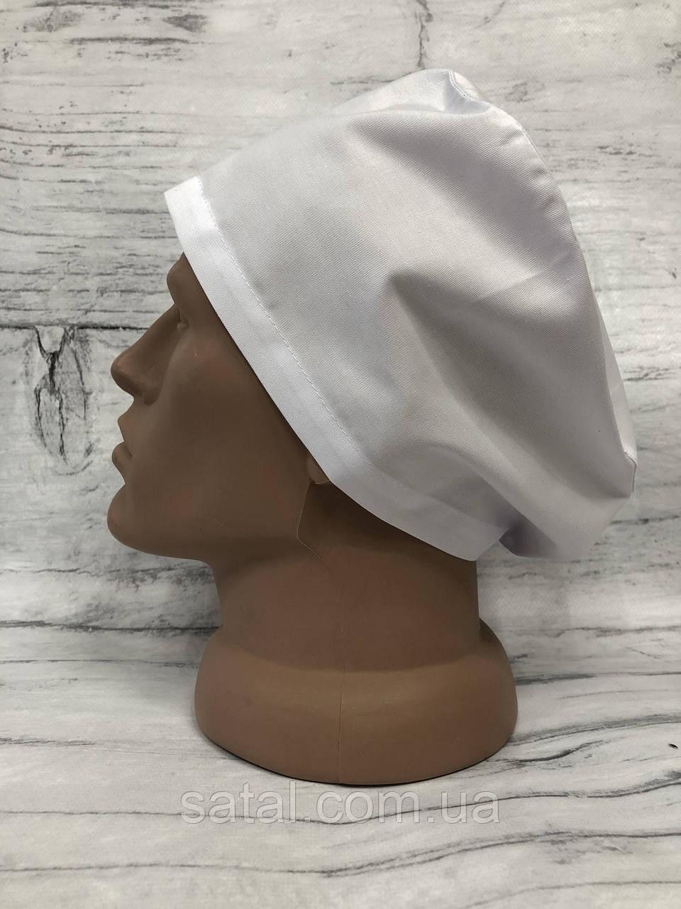 Медицинская шапочка. Белый. Satal
