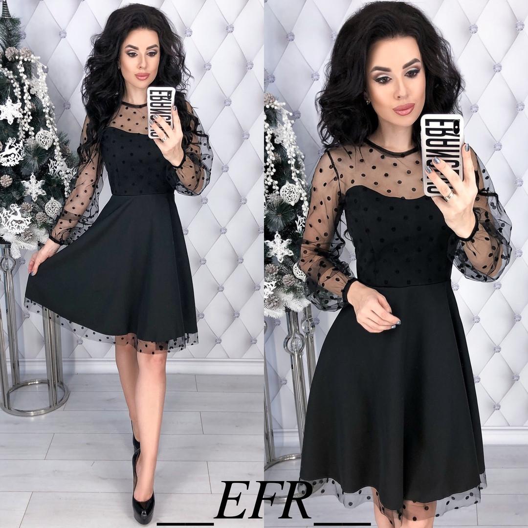 99f800f6ff639ee Милое платье с сеткой в горошек: продажа, цена в Одессе. платья ...