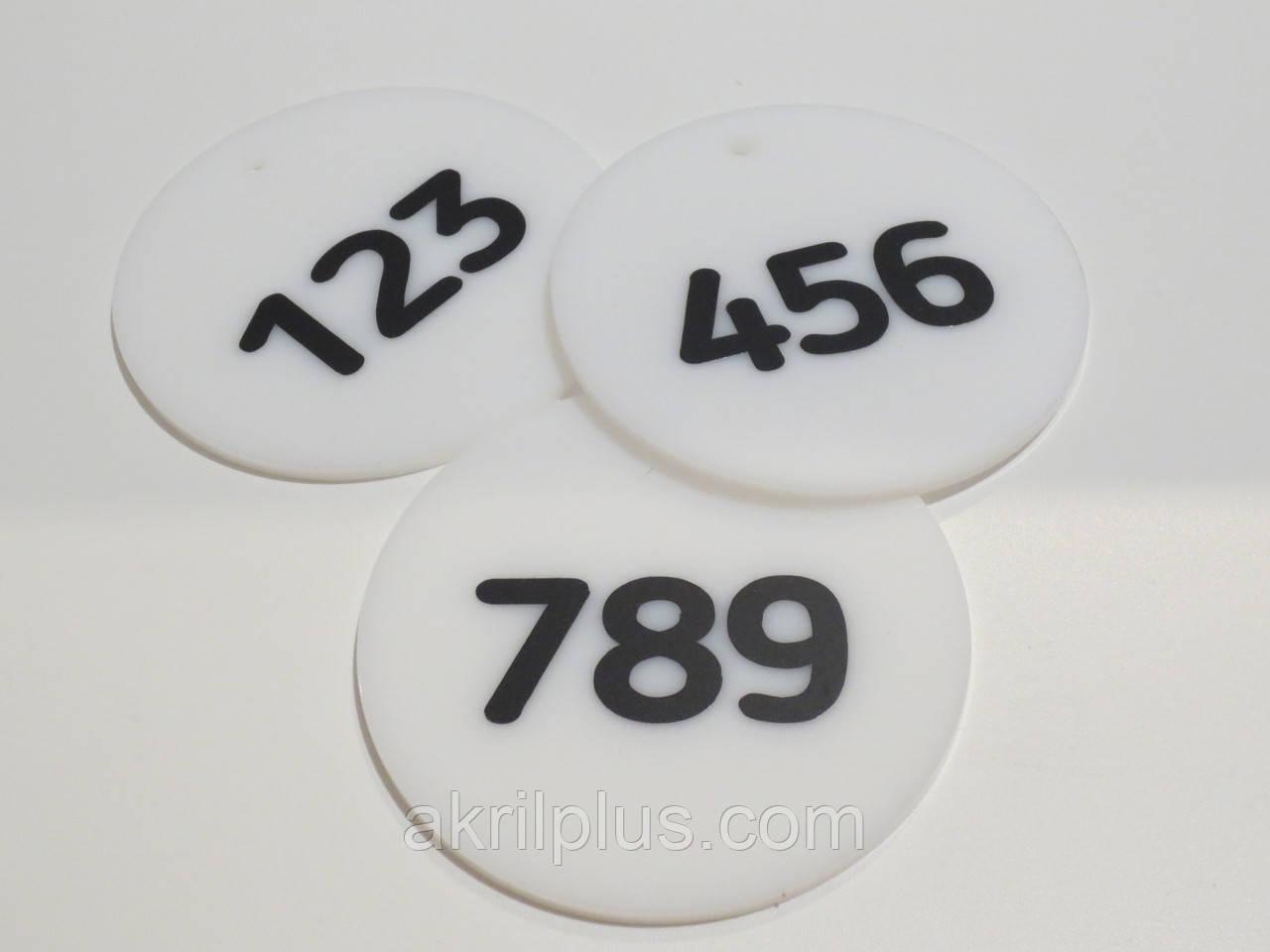 Номерок на ключи диаметр 80 мм