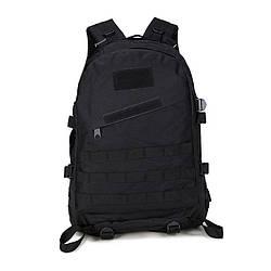 Тактический походный рюкзак черного цвета