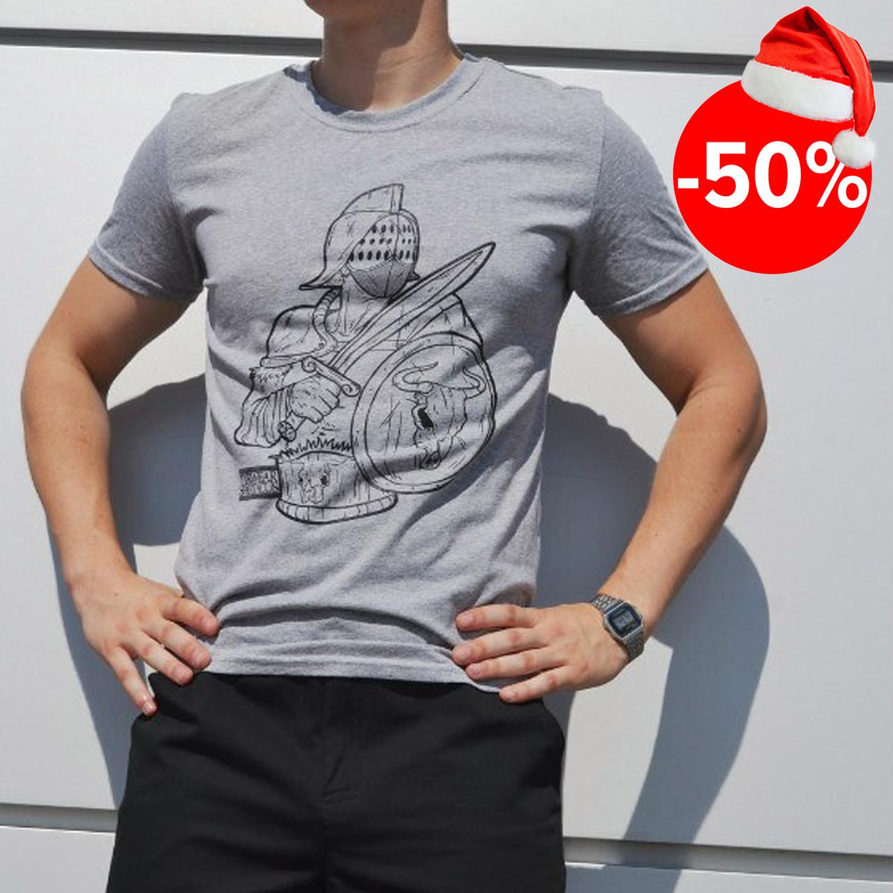 Мужская футболка серая ТУР Spartacus