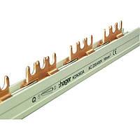 Шина соединительная вилочная 3-полюсная на 57 модулей, с изоляцией, 16 мм2, hager