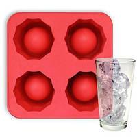 Формочки для льоду силіконові, Льодяна рюмка, колір - Червоний, форма крижані стопки