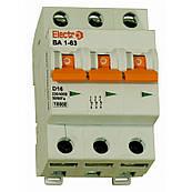 Выключатель автоматический ВА 1-63 3 полюса 6А 10Ка Тип D