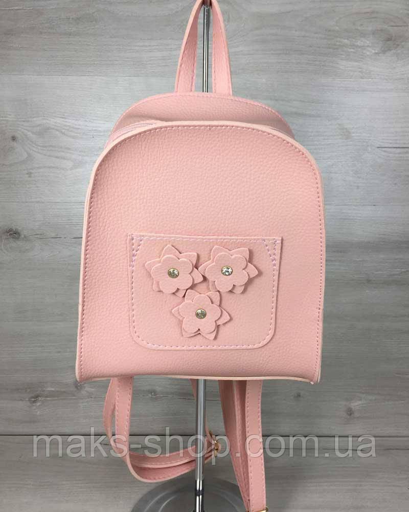 bffb827c8794 Молодежный Оригинальный,качественный Рюкзак Цветы Пудрового Цвета ...