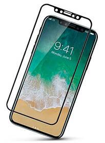Защитное стекло 5D Full Cover для iPhone ХS black