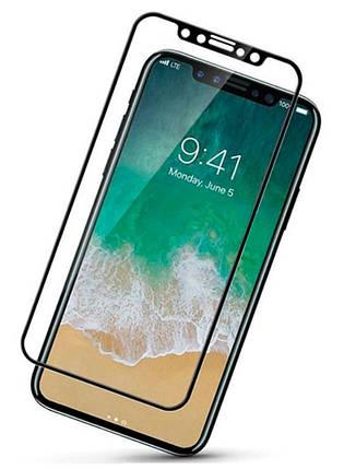 Защитное стекло 5D Full Cover для iPhone ХS black, фото 2