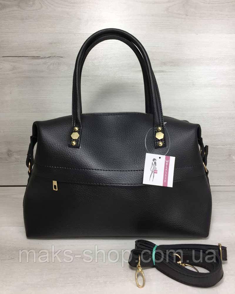 17591056670b Женская сумка Ирен деловая черного цвета - Maks Shop- надежный и  перспективный интернет магазин сумок