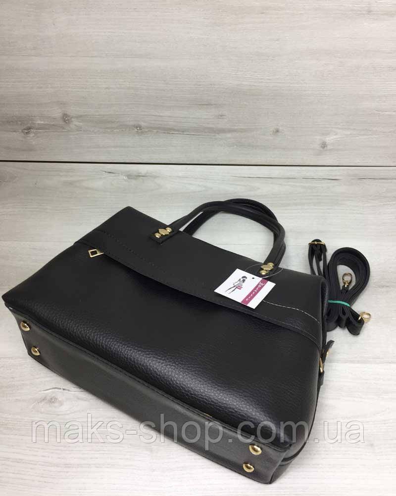 66acf0337a2b Женская сумка Ирен деловая черного цвета, цена 590 грн., купить в Киеве —  Prom.ua (ID#823474836)