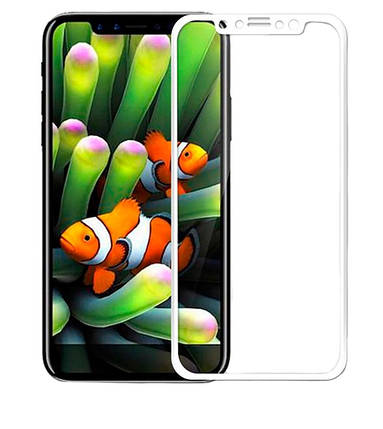 Стекло Full Coverage 5D Iphone X White, фото 2