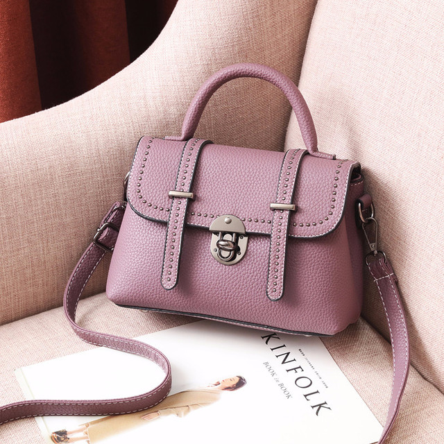 Мини сумочка через плечо фиолетовый