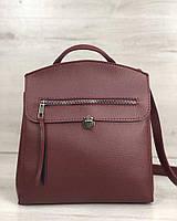 Женская сумка-рюкзак Дэнис бордового цвета