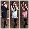 Женское платье машинной вязки с кружевом в расцветках. АР-5-1218 - Фото