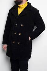 Мужское зимнее пальто\дублёнка Teddy Bear Coat Black/Черное, фото 3