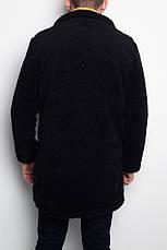Мужское зимнее пальто\дублёнка Teddy Bear Coat Black/Черное, фото 2