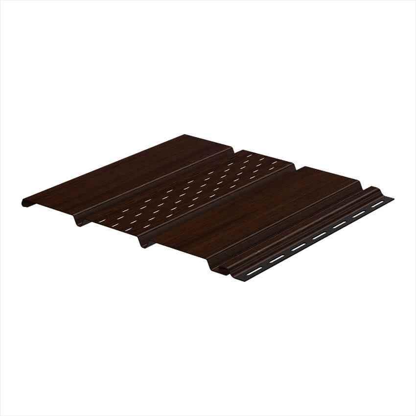 Софит подшивочный перфорированный Galeco Dekor 4000мм х 295мм Темно - коричневый (1,18 м2)