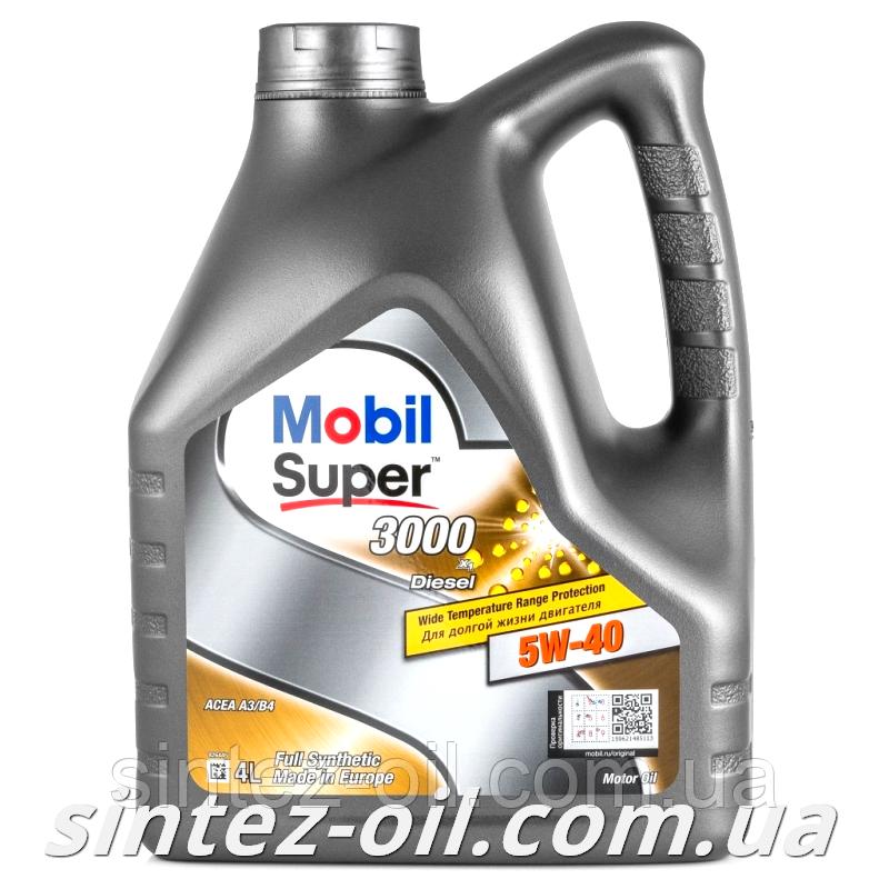 Моторное масло MOBIL SUPER 3000 Diesel 5W-40 (4л)