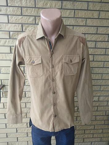 Рубашка мужская плотная микровельветовая высокого качества SPORTSMAN, Турция, фото 2