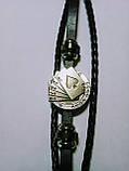 Кожаный браслет «Full House» 21 см черный, фото 5